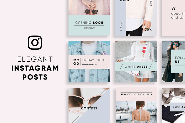 Thumbnail for Elegant Instagram Posts