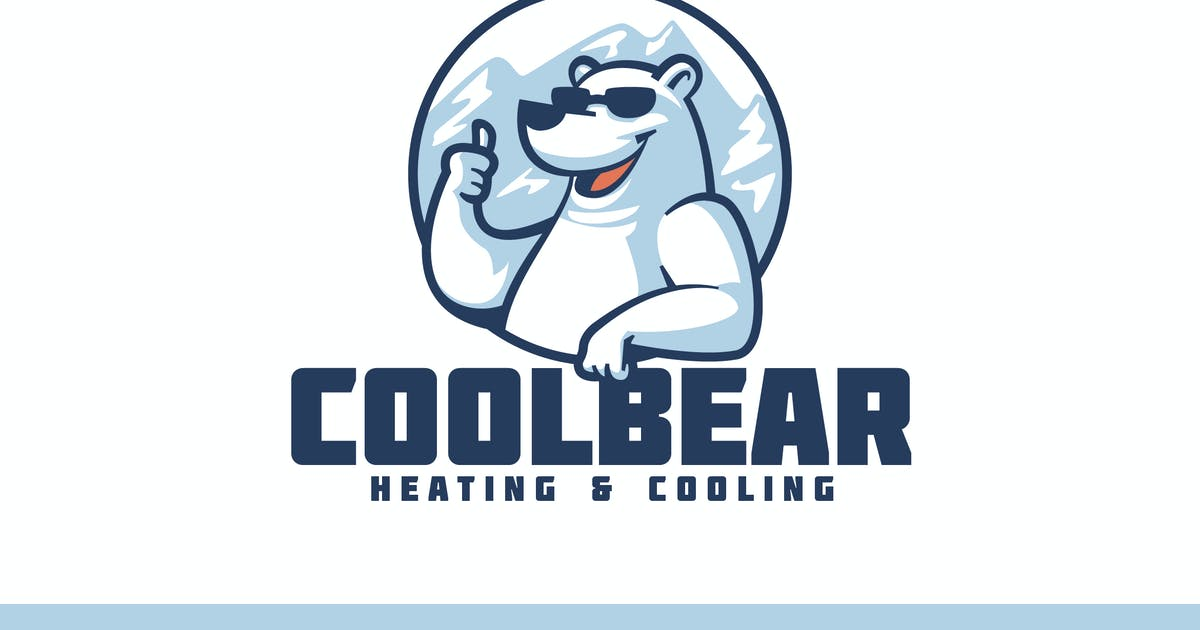 Download Cartoon Polar Bear Wearing Sunglasses Mascot Logo by Suhandi