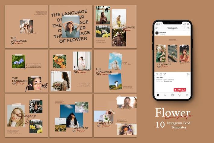 Thumbnail for Sprache der Blume - Instagram Post Vorlage