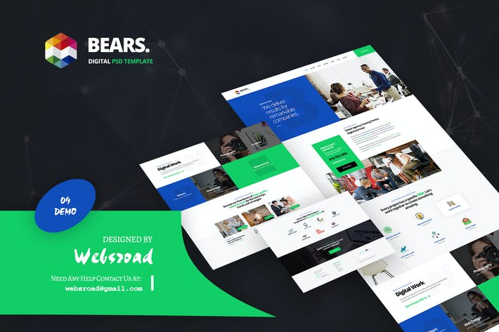 Thumbnail for Bear's - Digital PSD Template