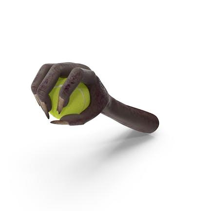 Creature Hand Grabbing a Tennis Ball