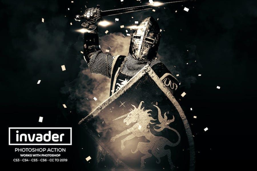 Invader Photoshop Acción