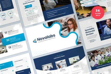 Laboratory & Science Research Powerpoint Template