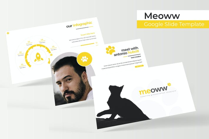 Thumbnail for Meoww - Google Slide Template