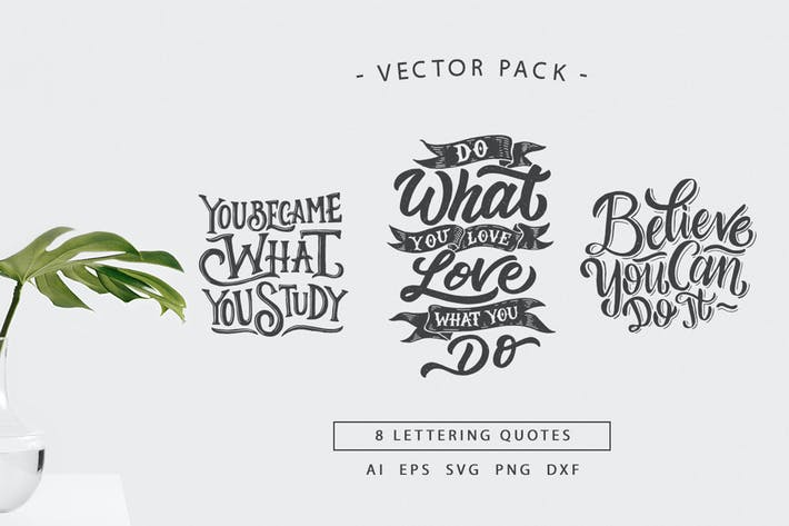 Thumbnail for Lettering Motivational Quotes  SVG Bundle Vol 2