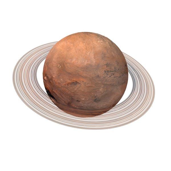 Thumbnail for Fiktionaler Orangenplanet mit Ring