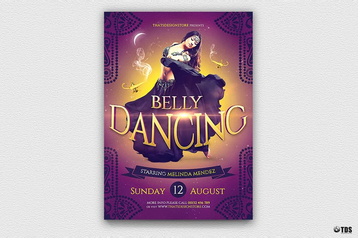 Thumbnail for Belly Dancing Flyer Template
