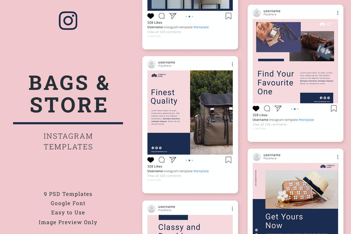Thumbnail for Bag Store's Instagram Post Template