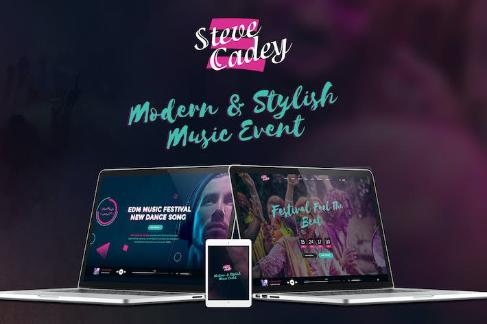 Thumbnail for Steve Cadey - Modern & Stylish Music Event PSD
