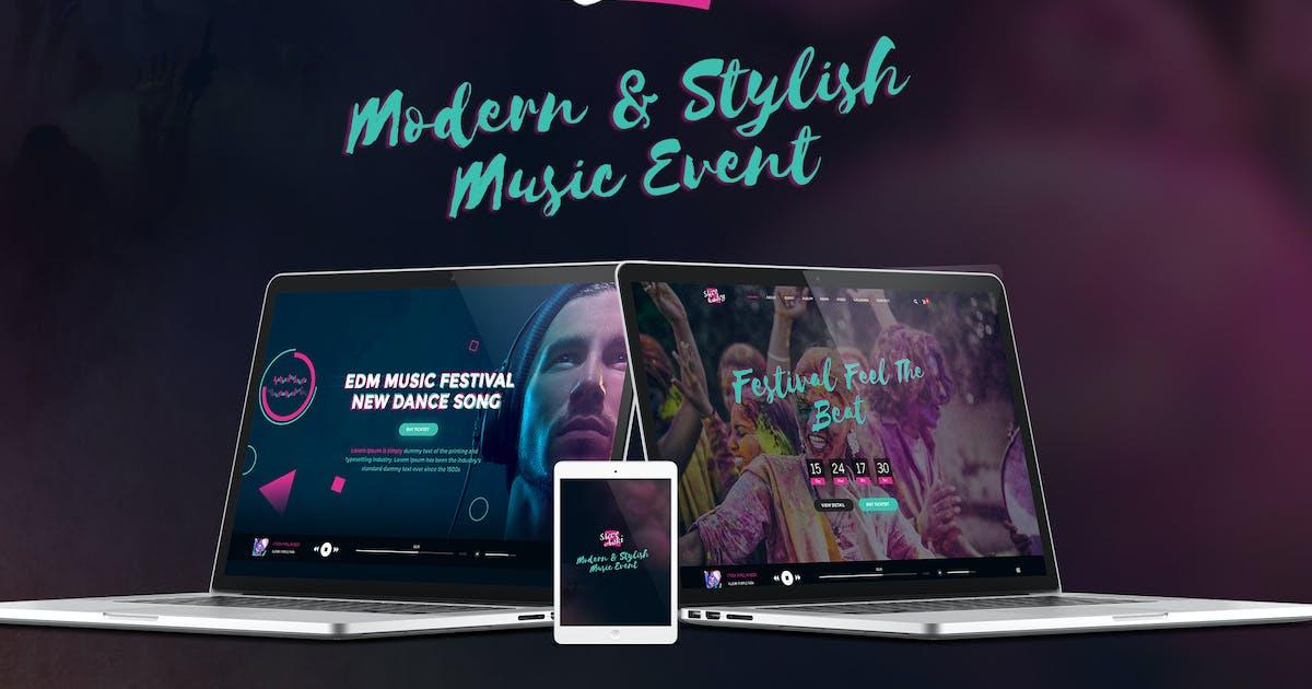 Download Steve Cadey - Modern & Stylish Music Event PSD by 1protheme