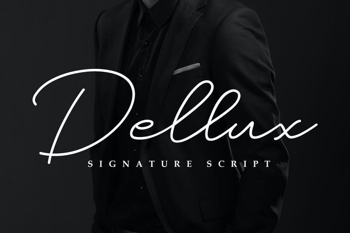 Thumbnail for Dellux - Modern Script Font