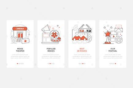 Kino - Line-Design-Stil Webbanner
