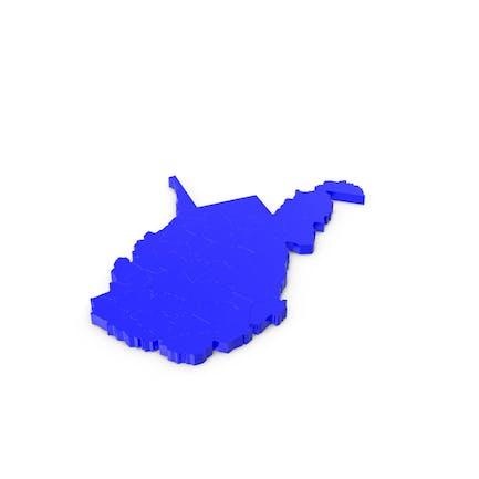 Карта графств Западная Вирджиния