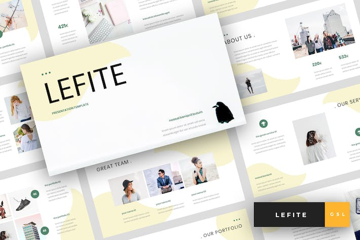 Thumbnail for Lefite - Magazine Google Slides Template