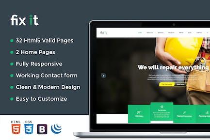 Fixit Construction - Construction HTML Vorlage