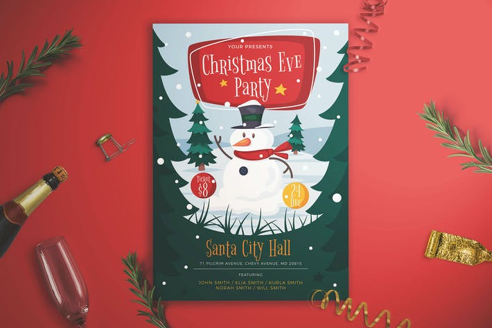 Thumbnail for Christmas Eve Party Flyer