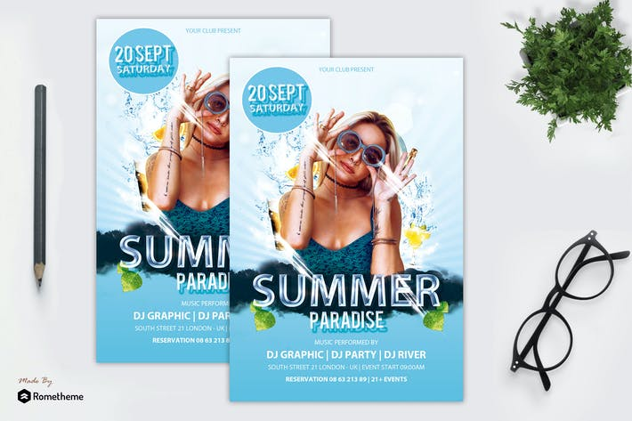 Cover Image For Summer Paradise Flyer vol.1 MR