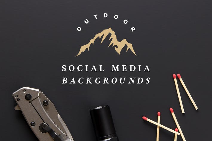 Thumbnail for Outdoor Social Media Background Pack