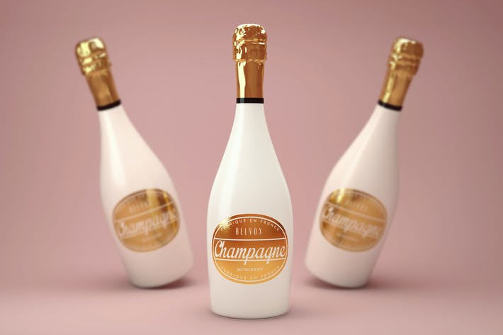 Thumbnail for Luxury Champagne Bottle Mock-Up