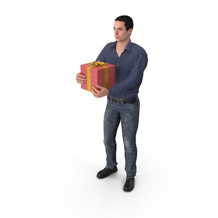 Hombre Casual James Holding Regalo