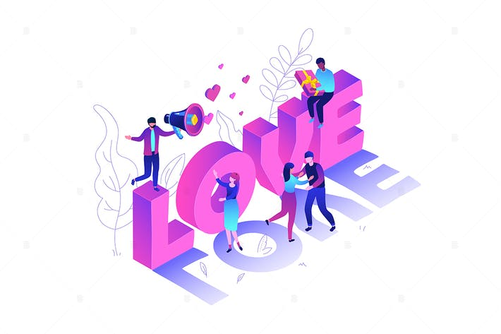 Thumbnail for Valentine's Day - isometric vector illustration