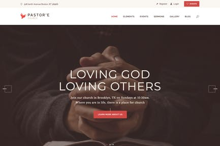 Pastor'e | Church, Religion & Charity WP Theme