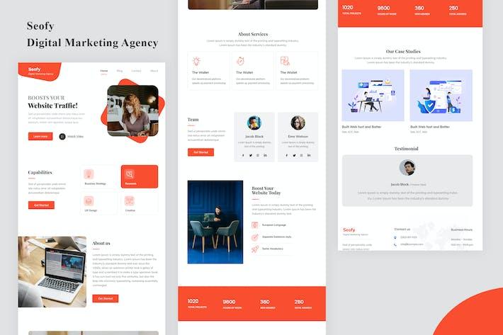 Thumbnail for Seofy - Digital Marketing Agency Email Newsletter