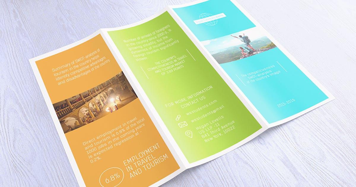 Download Tri-Fold Brochure Flyer Mockups by WpWay_