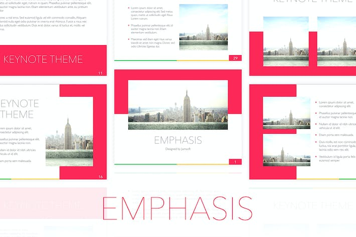 Cover Image For Emphasis Keynote Template