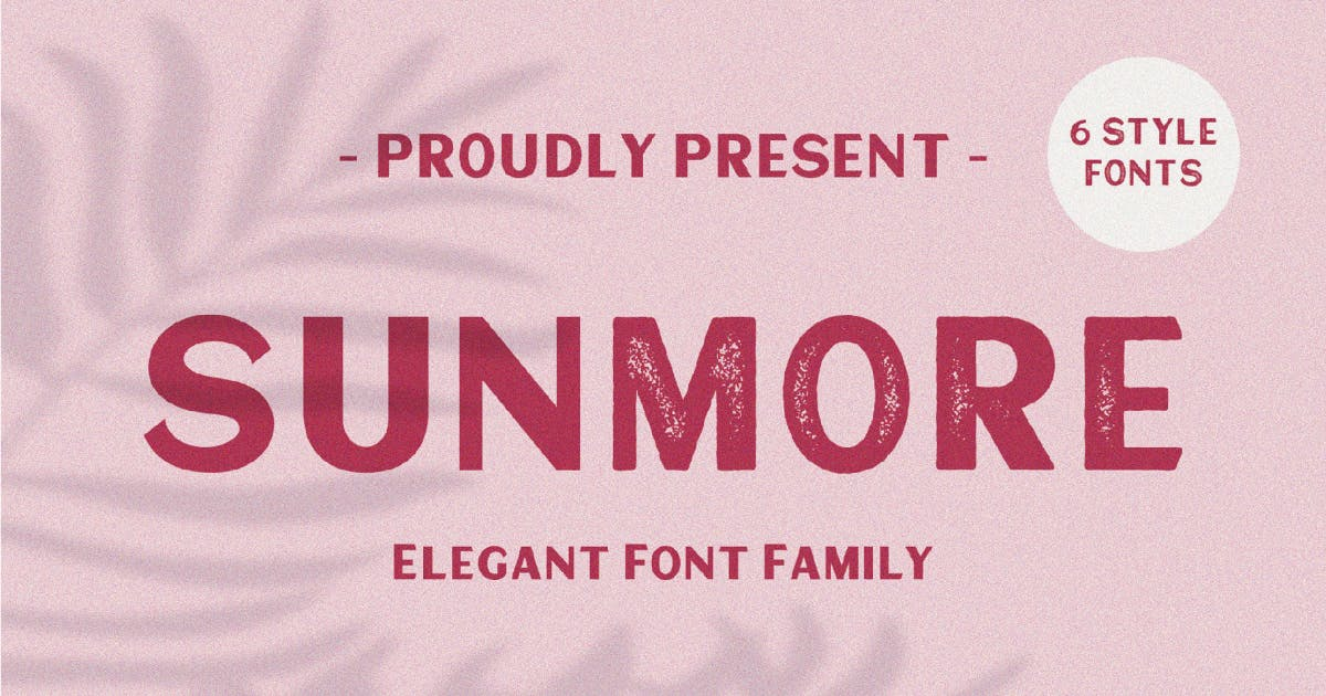 Download Sunmore Typeface by MartypeCo