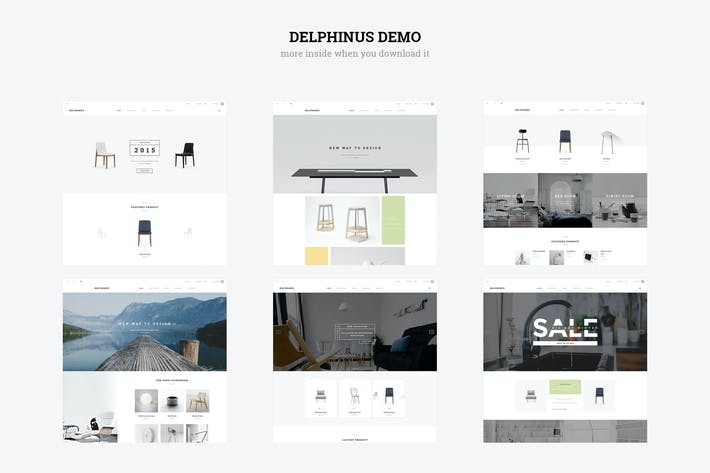 Thumbnail for Delphinus - Creativo Multiusos Magento Tema