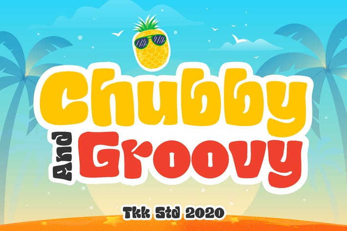 Thumbnail for Chubby and Groovy - Fuente retro para niños
