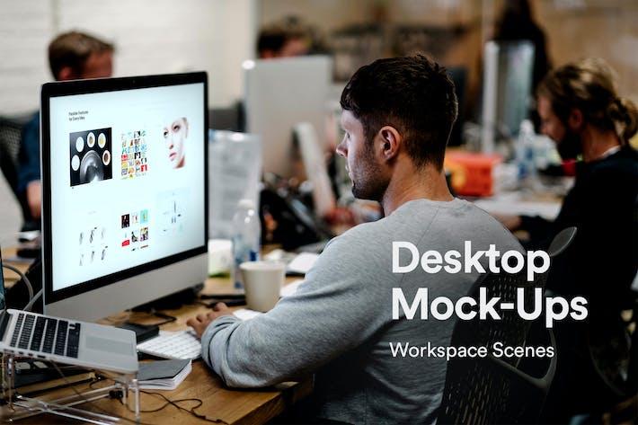 Thumbnail for iMac Desktop Mock-up