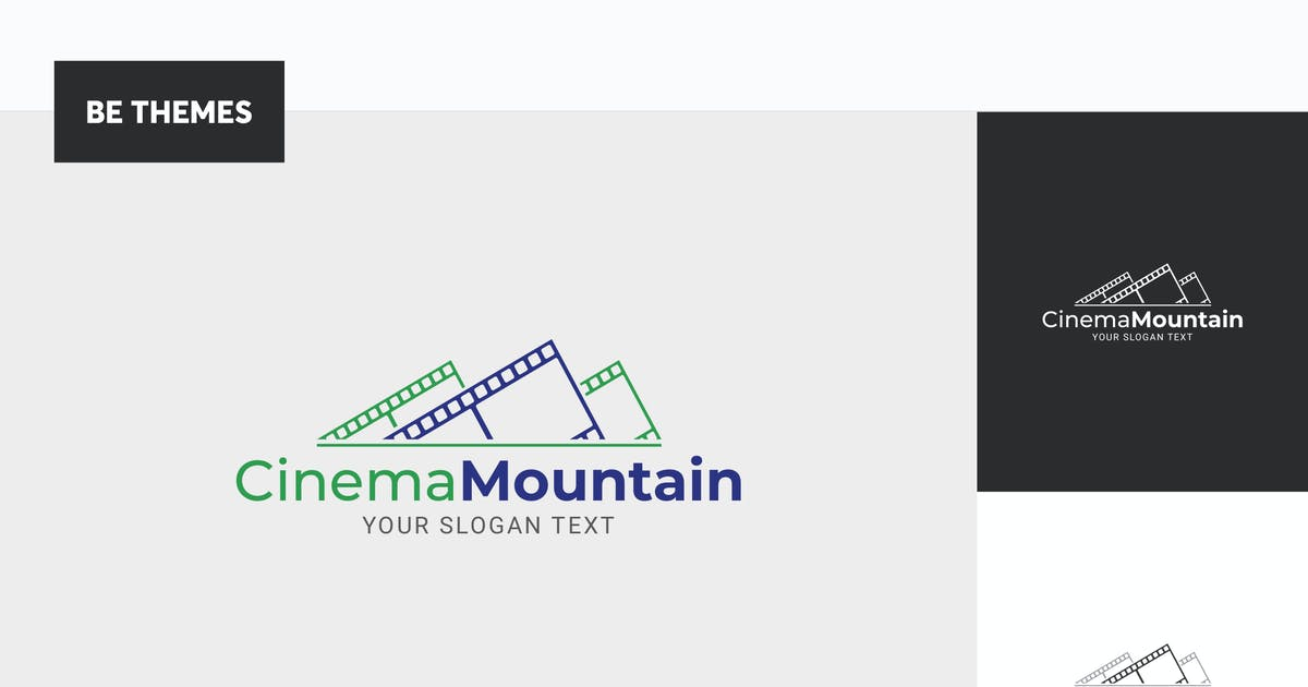 Download Cinema Mountain Logo Template by Be_Themes