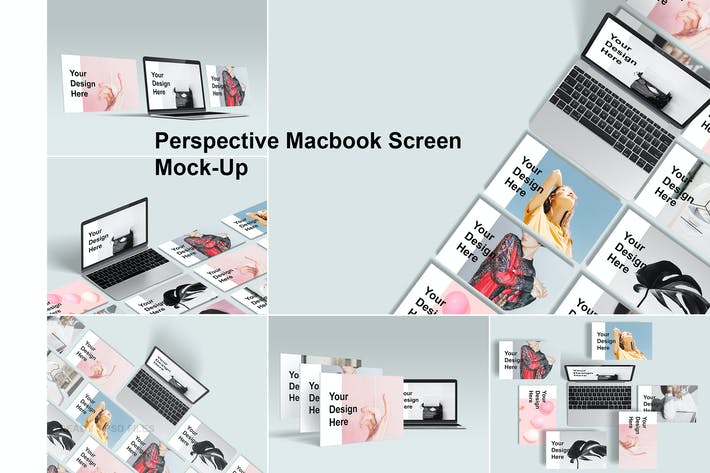 Thumbnail for Perspective Macbook Screen Mock-Up
