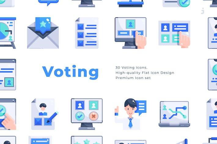 30 AbstimmungsIcons - Flat