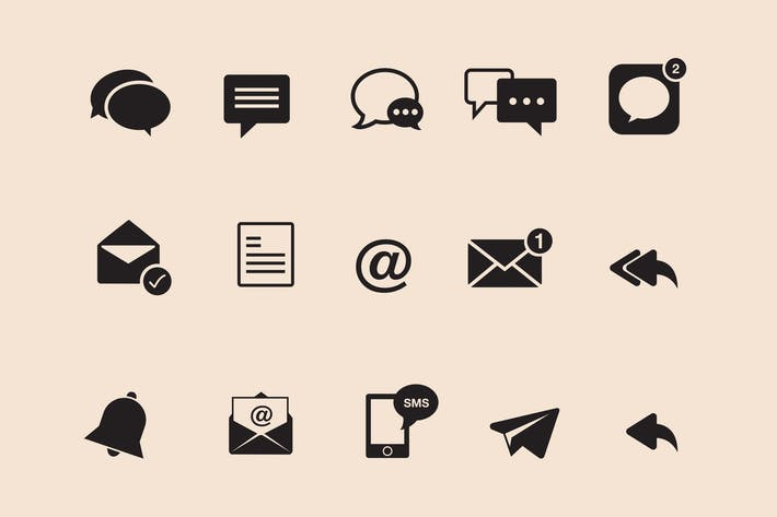 Cover Image For 15 Messaging Icons