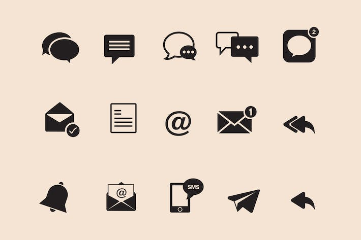 Thumbnail for 15 Messaging Icons