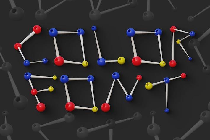 Atoms - Color SVG Font