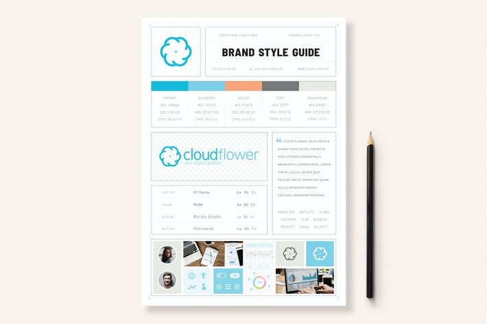 Cover Image For One Page Branding Style Guide