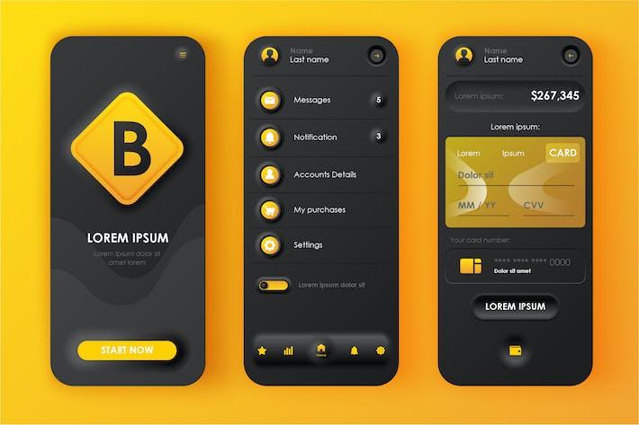 Thumbnail for Banking Neumorphic Mobile App UI Kit