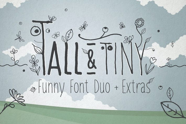 Thumbnail for Tall & Tiny Font Duo