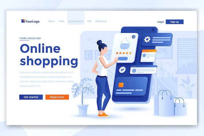 Thumbnail for Landing page template of Online Shopping