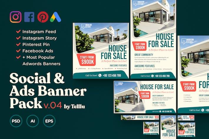 Thumbnail for Social & Ads Banner Pack v04