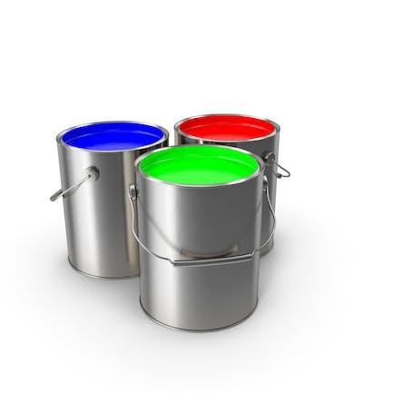 Latas de pintura RGB
