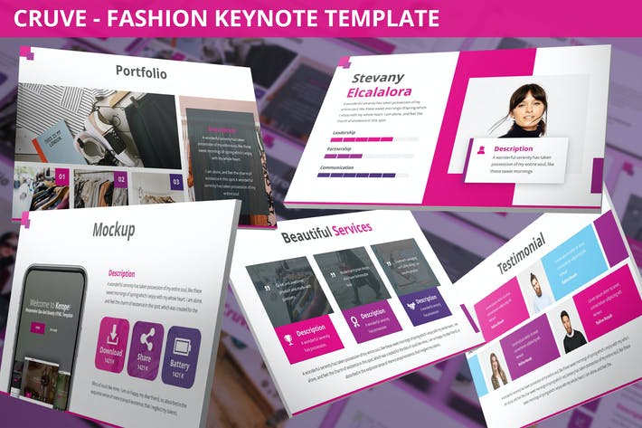 Thumbnail for Cruve - Fashion Keynote Template