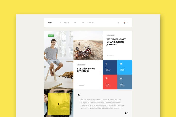 Thumbnail for Voku - Minimal Portfolio and Blog HTML Template