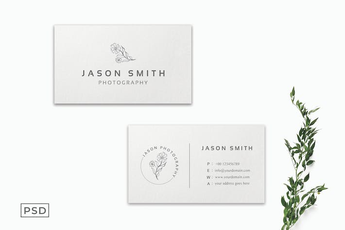 Clear White Minimalist Business Card Template