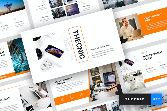 Thumbnail for Thecnic - Technology Keynote Template