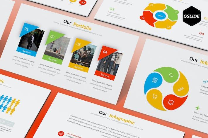Thumbnail for Globe Biz - Google Slides Template